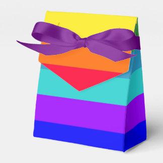 Bold Rainbow Stripes favor box