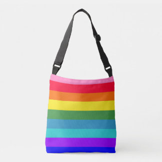 Bold Rainbow Stripes tote bag