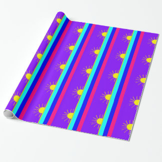 bold rainbow sun wrapping paper