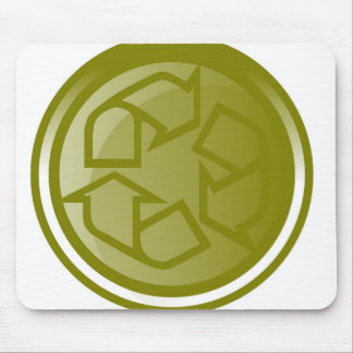 Bold Recycling icon Mouse Pad