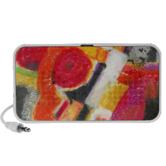 Bold Red Abstract Laptop Speakers