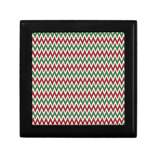 Bold Red and Green Christmas Chevron Zigzags Gift Boxes