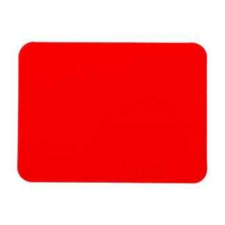 Bold Red Background Rectangular Photo Magnet