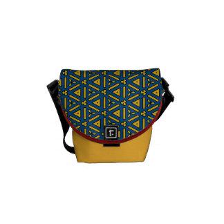 Bold Red Blue Yellow Geometric Messenger Bag