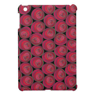Bold Red, Pink and Green Art Nouveau Roses iPad Mini Cases