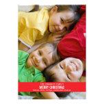Bold Red Ribbon Christmas Card Invitations