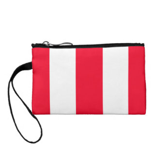Bold Red Stripes Coin Wallet
