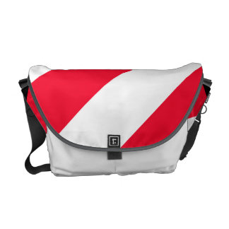 Bold Red Stripes Messenger Bag