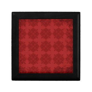 Bold Red Vintage Pattern Jewelry Box