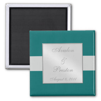 Bold Ribbon Teal Save The Date Magnet