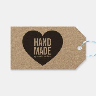 Bold Rustic Handmade Heart Kraft Gift Tags