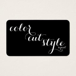 Bold Salon Referral Card - cut color style repeat