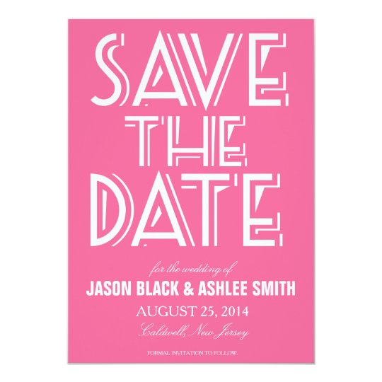 Bold Save The Date | Wedding Card