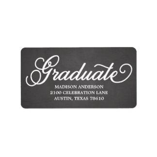 Bold Script   Graduation Address Label