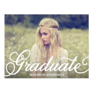 Bold Script   Graduation Postcard Invitation