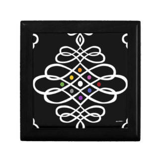 Bold Scrollwork Medallion Design Jewelry Box