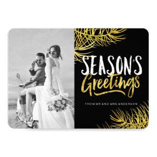 Bold Season's Grettings Newlywed Photo Cards 13 Cm X 18 Cm Invitation Card