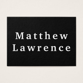 BOLD & Simple Black and White Business Card