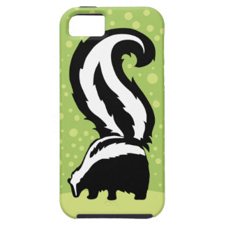 Bold Skunk Illustration With Green Dots Case For The iPhone 5