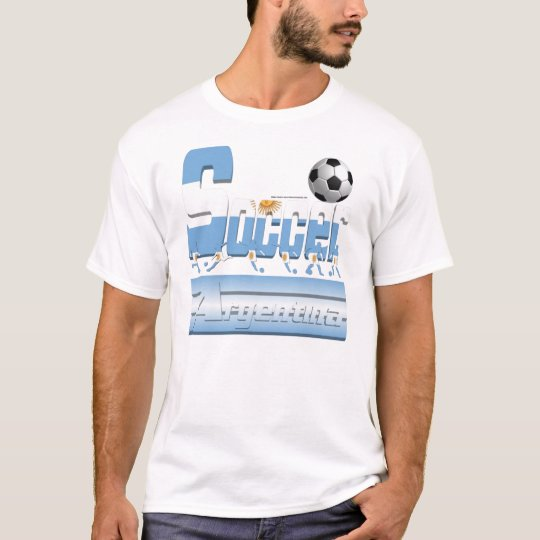 Bold Soccer Argentina Men's Tee