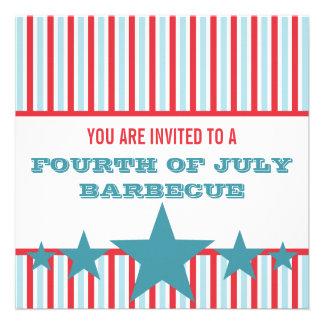 Bold Stars and Stripes Invite