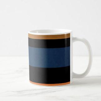 Bold Stripe Art Deco Collection Basic White Mug