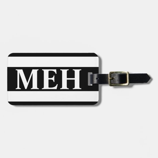 Bold Stripe Black and White Monogrammed Luggage Tag