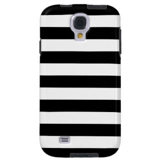 Bold Stripe Galaxy S4 Case in Black and White