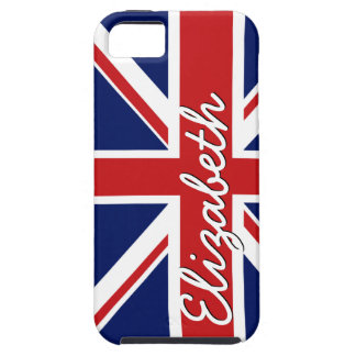 Bold Stripe Pattern - Union Jack Flag with Name iPhone 5 Case