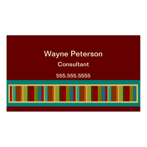 Bold Stripe Photo Business Card