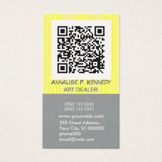 Bold Stripe QR Code Tech Business Card