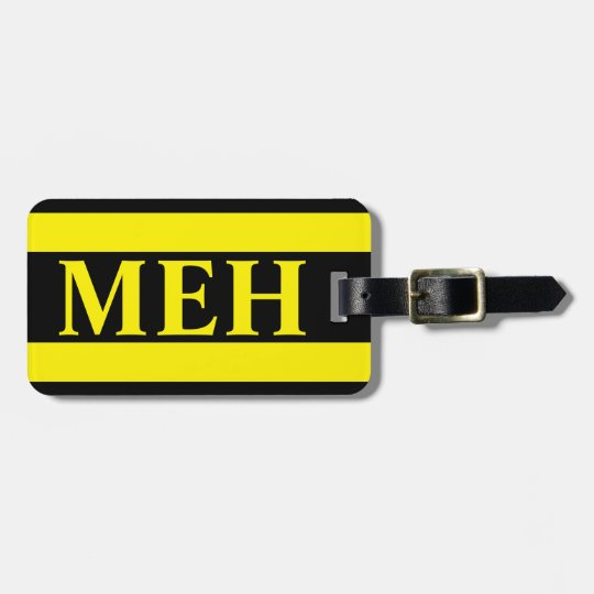 Bold Stripe Yellow Monogrammed Luggage Tag