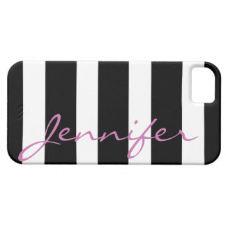 Bold Striped iPhone 5 Barely There Case | Black