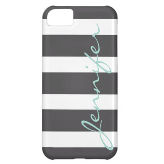 Bold Striped iPhone 5 Barely There Case | Charcoal