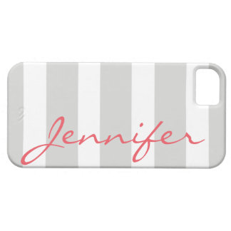 Bold Striped iPhone 5 Barely There Case | Grey