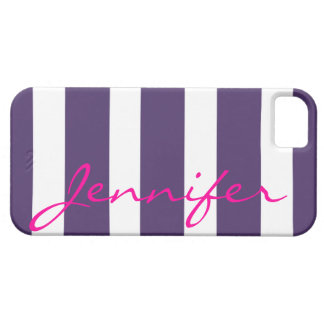 Bold Striped iPhone 5 Barely There Case | plum
