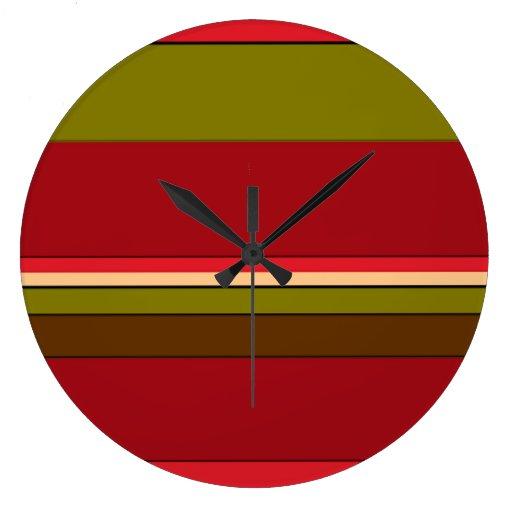Bold Stripes Wall Clock
