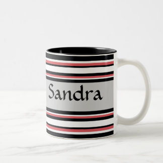 Bold Stripes Two-Tone Coffee Mug