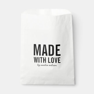 Bold Stylish Made with Love Favour Bags