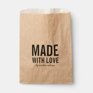 Bold Stylish Rustic Made with Love Favour Bags