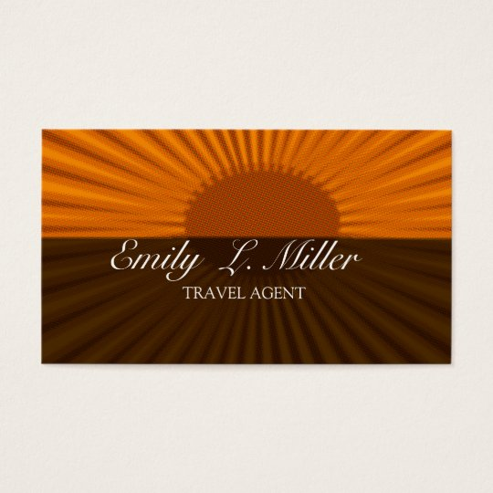 Bold Sun Rising Travel Agent Vacation Business Card