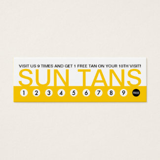bold SUN TANS customer loyalty Mini Business Card