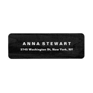 Bold Text Elegant Gray Wood Professional Modern Return Address Label