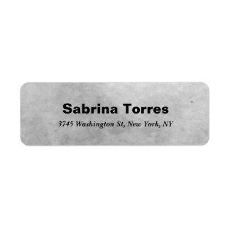 Bold Text Style Grey Modern Professional Elegant Return Address Label