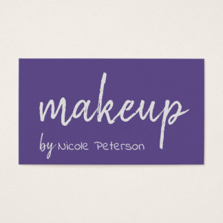 Bold Text Ultra Violet Makeup Artist Business Card
