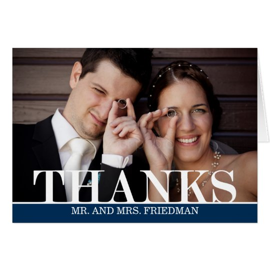 Bold Thanks Thank You Card