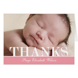 Bold Thanks Thank You Card Card