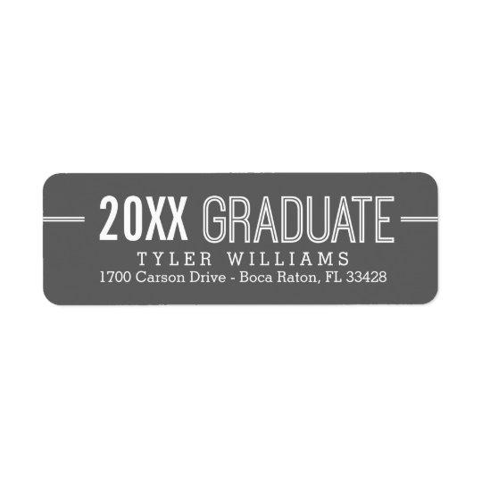 Bold Timeless Editable Colour Graduation Label Return Address Label