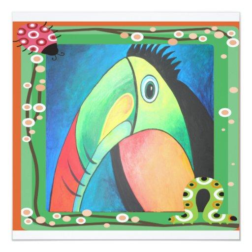 Bold Toucan Invitation