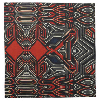 Bold tribal contemporary cocktail napkins